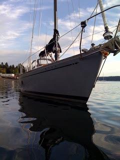 Image of sailboat bow
