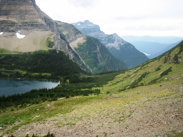 Image of lake and mountains at Glacier National Park