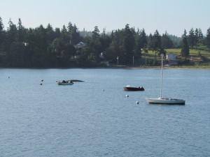 Capsized boat, Holmes Harbor
