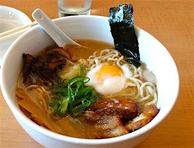 bowl of pork tonkatsu ramen with egg