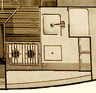 the galley plan of a freedom 30 - smallest galley