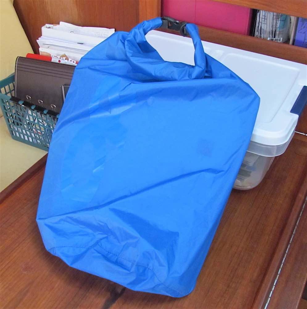 blue dry bag