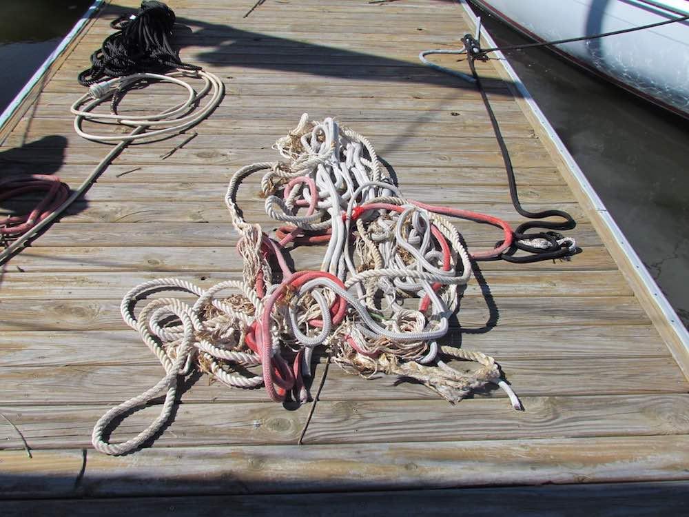 broken docklines post hurricane matthew