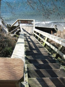 crooked beach stairs