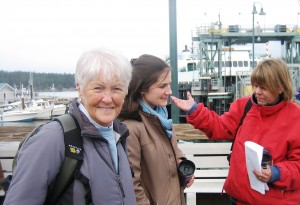Jill Hein at Friday Harbor ferry landing