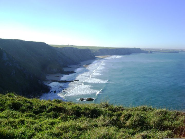 The shore of the Atlantic near Newquay, England from the South West Coast Path