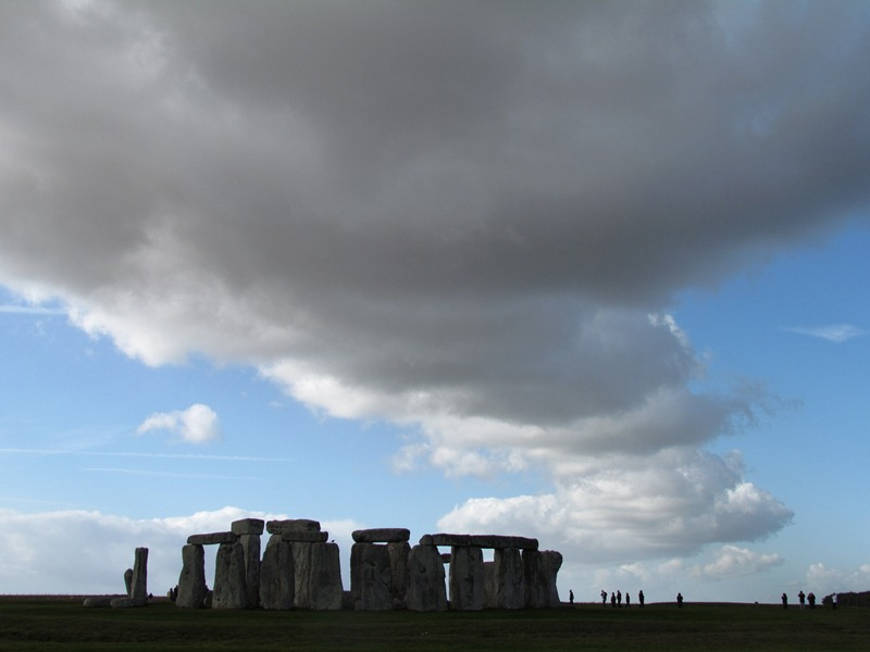 Stonehenge with atmospheric cloud staging