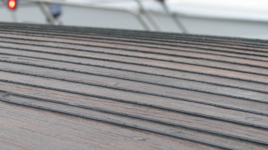teak decking is great for traction in the rain