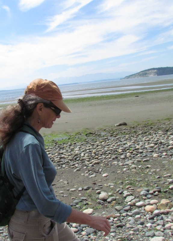 walking the beach at Useless Bay, Whidbey Island
