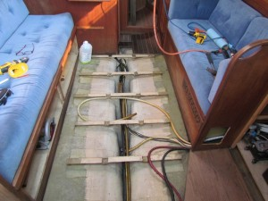 Bilge after the third cleaning