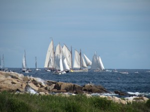 Rounding the mark in the Gloucester Schooner Race