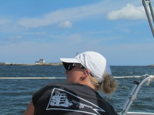 The Boston Light and Stacey rocking the winch