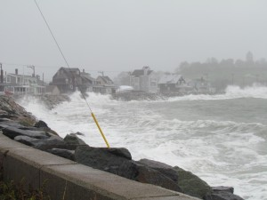 Image of waves at Hull, MA from outer edge of Hurricane Sandy
