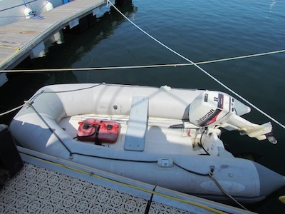 dinghy with outboard