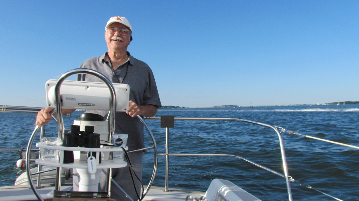 Dad at the helm of Sunshine