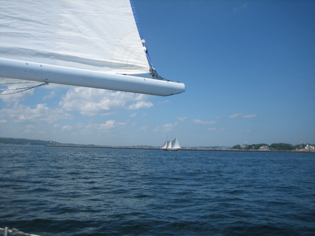sailing with schooners eastern point light