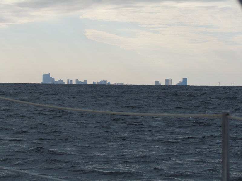 Atlantic City New Jersey rising from the sea