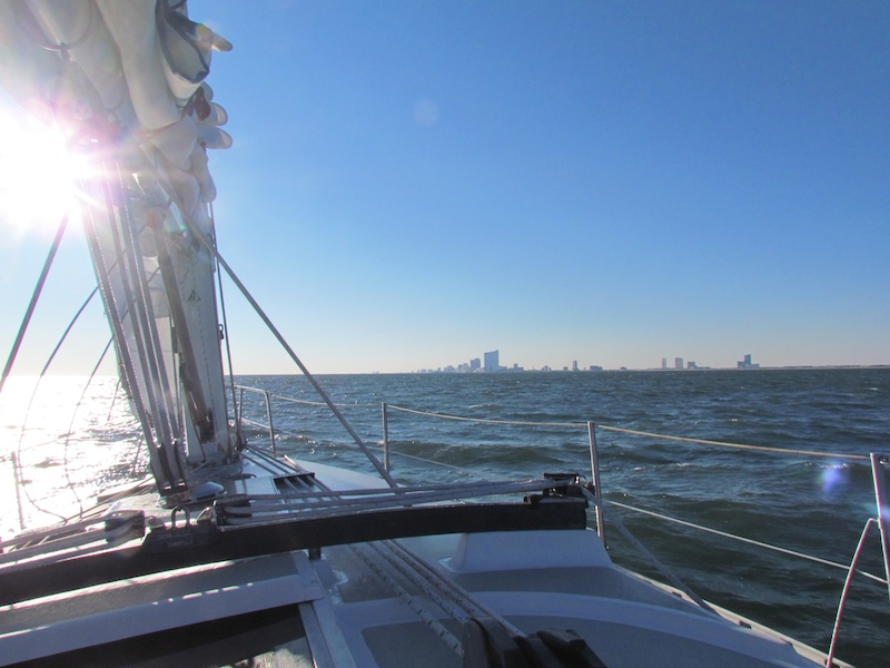 atlantic city from sailboat