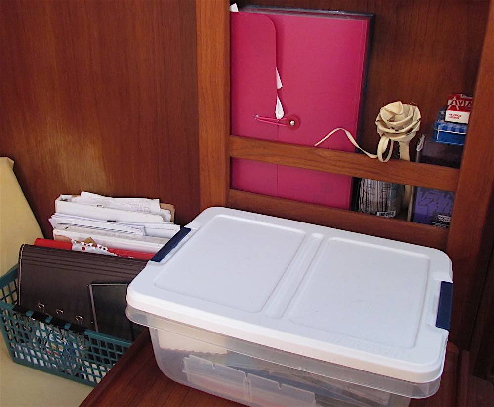 boat office and paper storage how to protect vessel documentation