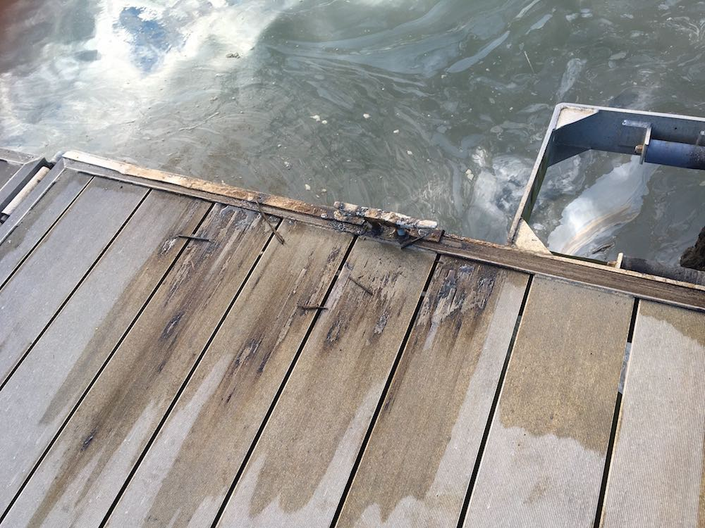 oil spill on public boat launch