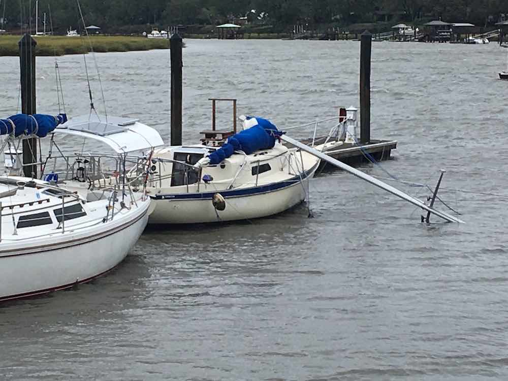 sail boat dismasted by hurricane matthew