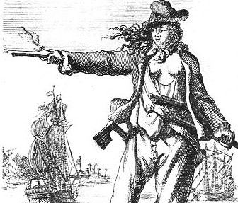 Image of etching of pirate Anne Bonney